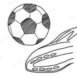 эскиз футбольные
