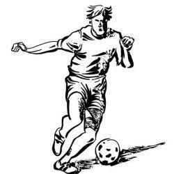 футбольные эскиз