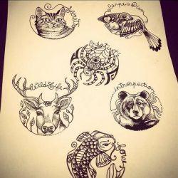 Магические татуировки фото, эскиз