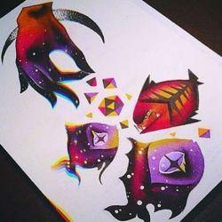 фото, эскиз магические татуировки