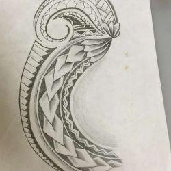 Полинезийские татуировки фото, эскиз