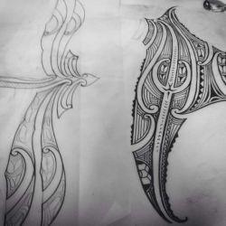 полинезийские татуировки эскиз