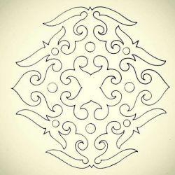 Тату полинезийские эскиз