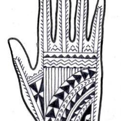 Тату полинезийские фото, эскиз