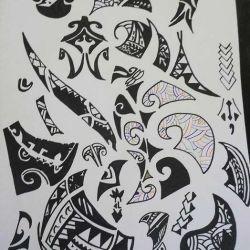 эскиз полинезийские татуировки