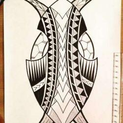 фото, эскиз полинезийские татуировки