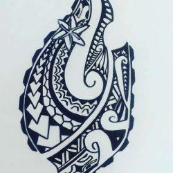 полинезийские эскиз