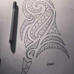 полинезийские фото, эскиз
