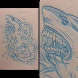 Татуировка акула фото, эскиз