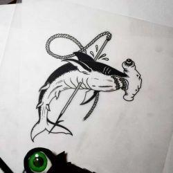 татуировка акула эскиз