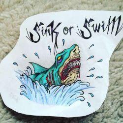 фото, эскиз татуировка акула