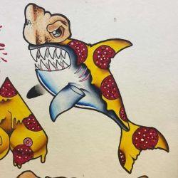 эскиз акула