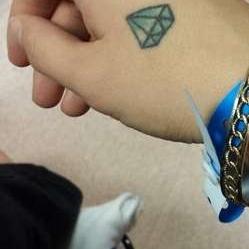 фотография татуировка алмаз