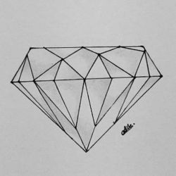 татуировка алмаз фото, эскиз