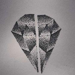 фото, эскиз тату алмаз