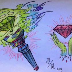 алмаз эскиз