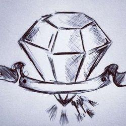 алмаз фото, эскиз