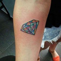 татуировка алмаз фотография