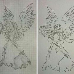 Эскизы принцессы-ангела