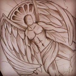 Воин-ангел, эскиз