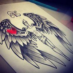 Эскиз ангела во весь рост