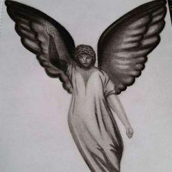 Реалистичный ангел, эскиз