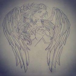 Эскиз типичного ангела