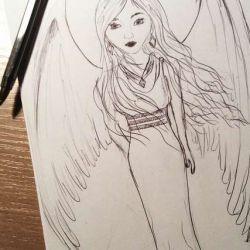 Милый ангел, эскиз