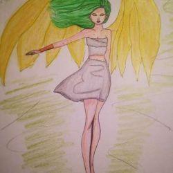 Ангел с вытянутой рукой, эскиз