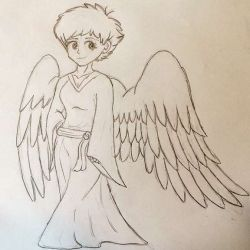 Взгляд милого ангелочка, эскиз