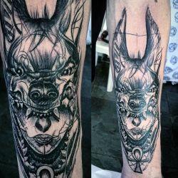 Татуировка Анубис фото