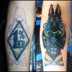 татуировка анубис фотография