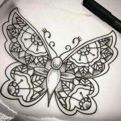 Татуировка бабочка фото, эскиз