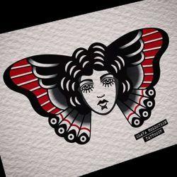 эскиз татуировка бабочка
