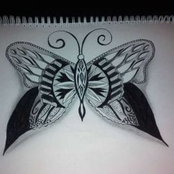 фото, эскиз татуировка бабочка
