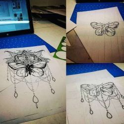 эскиз бабочка