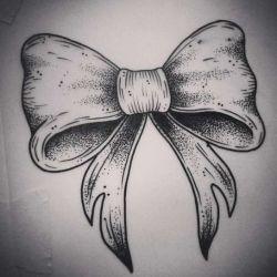 Татуировка бантик эскиз