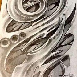 Татуировка биомеханика фото, эскиз