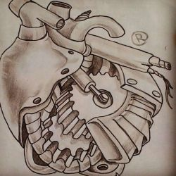 татуировка биомеханика эскиз