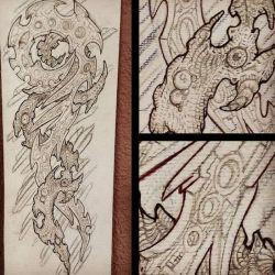 эскиз татуировка биомеханика