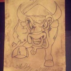 фото, эскиз татуировка бык