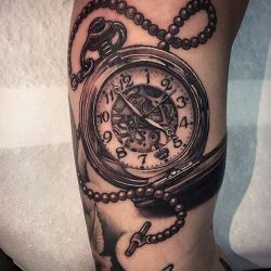 Татуировка часы фото