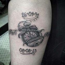 фото татуировка часы