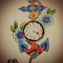 часы эскиз