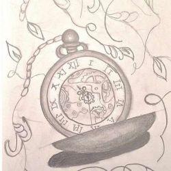фото, эскиз часы