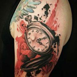 татуировка часы фотография