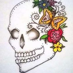 фото, эскиз татуировка череп