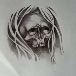 череп эскиз