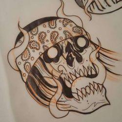 Татуировка череп эскиз
