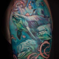 Татуировка дельфин фото